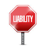 Liability red stop sign illustration design Stock Photos