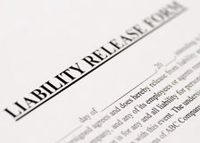 Liability Release Form Royalty Free Stock Image