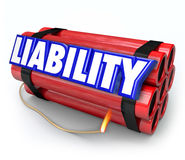 Liability Risk Legal Problem Warning Danger Dynamite Bomb Stock Photography