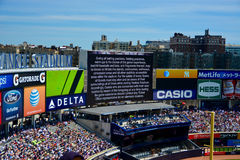 Liability warning Yankee Stadium Royalty Free Stock Image