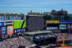 Liability warning Yankee Stadium Royalty Free Stock Image