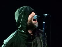 Liam Gallagher performs in concert at Fabrique in Milan, Italy on February 26, 2018. royalty free stock images