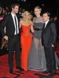 Liam Hemsworth & Elizabeth Banks & Jennifer Lawrence & Josh Hutcherson Stock Images