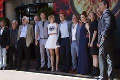 Liam Hemsworth, Jennifer Lawrence, Sam Claflin Royalty Free Stock Images
