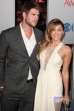 Liam Hemsworth, Miley Cyrus Royalty Free Stock Photo