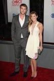 Liam Hemsworth, Miley Cyrus fotografía de archivo libre de regalías