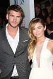 Liam Hemsworth, Miley Cyrus Royalty Free Stock Images