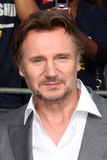 Liam Neeson llega   foto de archivo libre de regalías