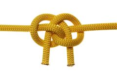 Liana knot from two yellow ropes Royalty Free Stock Image