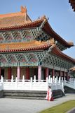 Temple at Lianchihtan Lotus pond in Kaohsiung, Taiwan stock photo