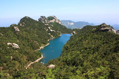 The liandanhu lake. On the top of the tianzhushan mountain Stock Photography