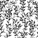 Liane verbreitet des nahtlosen einfarbigen Vektor Muster-Hintergrundes der Blattkriechpflanze vektor abbildung
