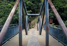 Lianxin桥梁在张家界全国森林公园,武陵源,中国 免版税库存照片