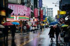 Lianyun Street, in the Zhongzheng District, Taipei, Taiwan. Stock Photography