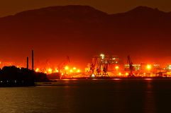 Lianyungang portu noc Zdjęcie Royalty Free