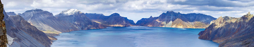 Liaoning Changbai Tianchi panoramic Stock Photography