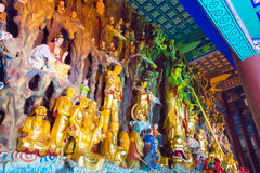 LIAONING, CHINA - Aug 03 2015: Budda statues at Guangyou Temple Stock Photos