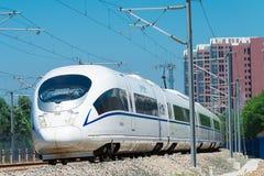 LIAONING, CHINA - 4. August 2015: China-Eisenbahnen CRH380BG elektrisch lizenzfreie stockbilder