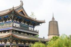 LIAONING, CHINA - 3 de agosto de 2015: Área escénica del templo de Guangyou Fotos de archivo libres de regalías