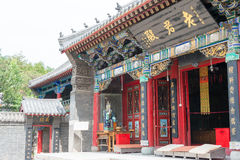 LIAONING, CHINA - 5 de agosto de 2015: Palácio de Taiqing um histórico famoso Foto de Stock