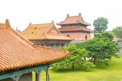 LIAONING, CHINA - 31 de julho de 2015: Túmulo de Zhaoling de Qing Dynasty imagens de stock