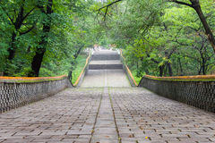 LIAONING, CHINA - Jul 31 2015: Fuling Tomb of the Qing Dynasty(UNESCO World Heritage site). a famous historic site in Shenyang, L. Iaoning, China royalty free stock images