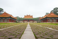 LIAONING, CHINA - Jul 31 2015: Fuling Tomb of the Qing Dynasty(UNESCO World Heritage site). a famous historic site in Shenyang, L. Iaoning, China stock photography