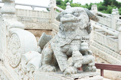 LIAONING, CHINA - Jul 31 2015: Lion Statue at Zhaoling Tomb of t Stock Photography