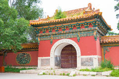 LIAONING, CHINA - Jul 31 2015: Zhaoling Tomb of the Qing Dynasty Royalty Free Stock Images