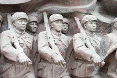 LIAONING, CHINE - 28 juillet 2015 : L'armée volontaire S de personnes chinoises Image stock