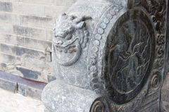 LIAONING CHINY, Aug, - 01 2015: Kamień bębni przy marszałka Zhang Ma Zdjęcie Stock