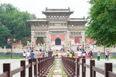 LIAONING CHINY, Jul, - 31 2015: Zhaoling grobowiec Qing dynastia Zdjęcia Royalty Free