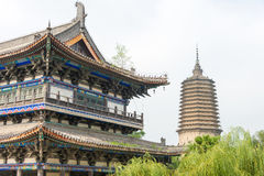 LIAONING, CINA - 3 agosto 2015: Area scenica del tempio di Guangyou Fotografie Stock Libere da Diritti