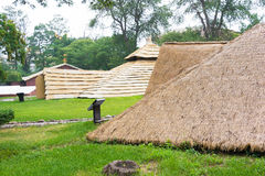 LIAONING, CINA - 31 luglio 2015: Museo del sito di Xinle un isto famoso immagine stock libera da diritti