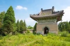 LIAONING KINA - Augusti 03 2015: Dongjing mausoleum en berömd hist Fotografering för Bildbyråer