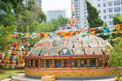 LIAONING KINA - Augusti 05 2015: Shisheng tempel royaltyfri bild