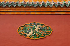 Liaoning Shenyang Imperial Palace brick reliefs Stock Photo
