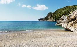 Liapades strand, Korfu, Grekland Royaltyfri Foto
