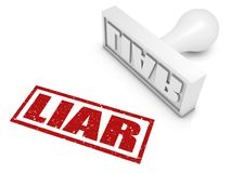 Liar!. Liar rubber stamp. Part of a series of stamp concepts Royalty Free Stock Photography