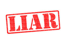 LIAR Rubber Stamp Royalty Free Stock Images