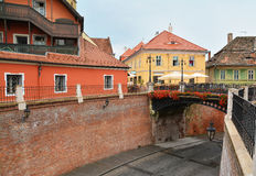 Liar's bridge in sibiu Stock Image