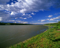 Liard River in Northwest Territories, Canada Stock Photos