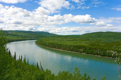 The liard river in the yukon territories Stock Photo