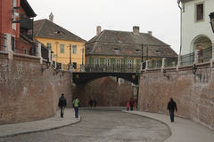 Liars bridge in Sibiu city Royalty Free Stock Image