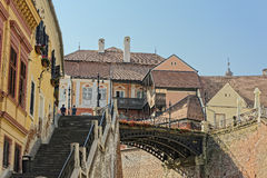 Liars Bridge Sibiu Romania. Old Town Sibiu Romania Liars Bridge Stock Photography
