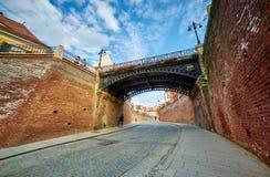 Liars Bridge in Sibiu, Romania Stock Photo