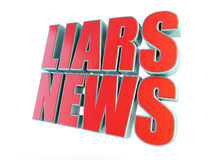 Liars news, fake news. On a white background Royalty Free Stock Photography