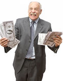 Liasses d'argent comptant Images libres de droits