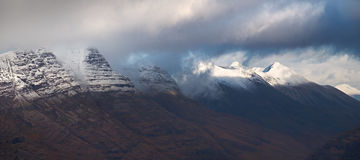 Liathach and Beinn Eighe. Royalty Free Stock Images