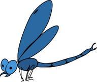 Libélula azul ilustração royalty free